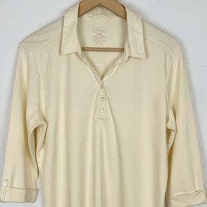 L.L.Bean Women's Shirt size Large , Light Yellow